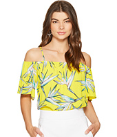 1.STATE - Cold Shoulder Flounce Sleeve Top