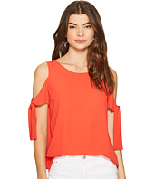 1.STATE - Cold Shoulder Blouse w/ Sleeve Ties