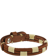 Fossil - Vintage Casual Stitched Leather Bracelet