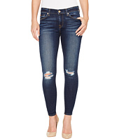 7 For All Mankind - The Ankle Skinny w/ Knee Holes in Dark Paradise