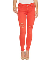 7 For All Mankind - The Ankle Skinny Jeans w/ Destroy in Hibiscus