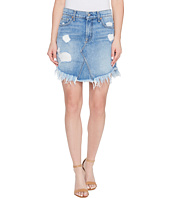 7 For All Mankind - Mini Skirt w/ Scallop Raw Hem & Destroy