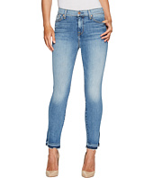 7 For All Mankind - The High Waist Ankle Skinny Jeans w/ Side Split Released Hem in Vintage Air Classic