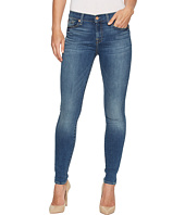 7 For All Mankind - Skinny Jeans w/ Squiggle in Rich Coastal Blue