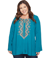 Roper - Plus Size 1305 Cotton Rayon Woven Top