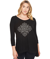 Roper - Plus Size 1298 Poly Rayon Thermal Top with Screen Print