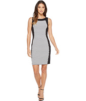 Calvin Klein - Printed Front Panel Ponte Sheath Dress