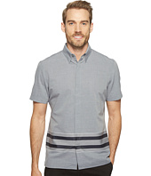 Perry Ellis - Slim Fit Engineered Hem Stripe Shirt