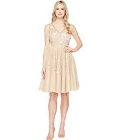 Adrianna Papell - Sleeveless Tea Length Beaded Dress