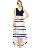Adrianna Papell - Jersey Organza Stripe Dress