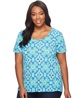 Extra Fresh by Fresh Produce - Plus Size Tile Play Luna Top
