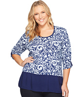 Extra Fresh by Fresh Produce - Plus Size Wander Windfall Top
