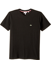 Lacoste Kids - Short Sleeve Solid V-Neck T-Shirt (Toddler/Little Kids/Big Kids)