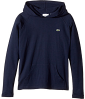 Lacoste Kids - Long Sleeve Hoodie Tee (Toddler/Little Kids/Big Kids)