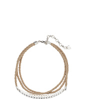 Lucky Brand - Leather Choker with Hardware Necklace