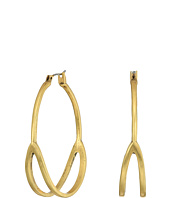 Lucky Brand - Gold Split Hoop Earrings