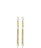 Lucky Brand - Cream and Gold Linear Earrings