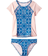 Roxy Kids - Sunny Dreams Rashguard Short Sleeve Lycra Set (Big Kids)
