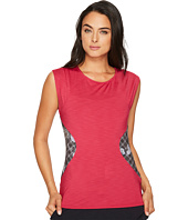 Eleven by Venus Williams - Floral Brocade Center Stage Cap Sleeve Top