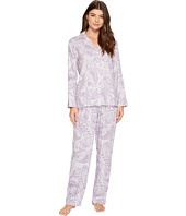 LAUREN Ralph Lauren - Long Sleeve Notch Collar Pajama