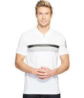 Calvin Klein - Printed Stripe Zip Polo Shirt