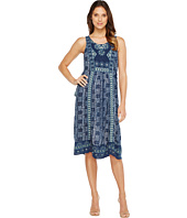Lucky Brand - Embroidered Printed Dress
