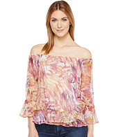 Lucky Brand - Palm Print Off the Shoulder Top