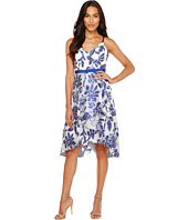 Adrianna Papell - Burnout Jacquard Fit & Flare Dress