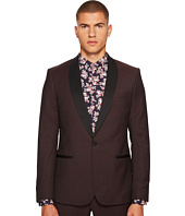 The Kooples - Tuxedo Jacket in Striped Fabric with A Black Collar