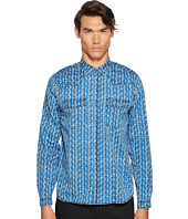 The Kooples - Indigo Shirt with Flower Print