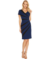 Adrianna Papell - V-Neck Fitted Dress