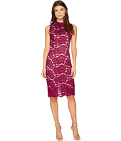 Adrianna Papell - Juliet Lace Mock Neck Sheath Dress