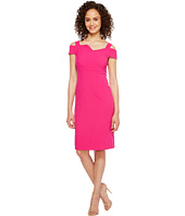 Adrianna Papell - Jetset Stretch Sheath Dress with Origami Neckline