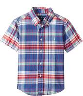 Polo Ralph Lauren Kids - Yarn-Dyed Madras Short Sleeve Button Down Top (Toddler)
