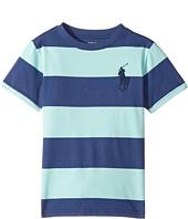 Polo Ralph Lauren Kids - 30/1 Yarn-Dyed Jersey Short Sleeve Crew Neck Striped Top (Little Kids/Big Kids)