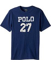 Polo Ralph Lauren Kids - 30/1 Slub Jersey Short Sleeve Crew Neck 2 Top (Big Kids)