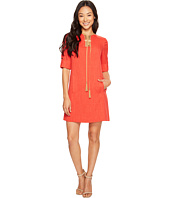 Tahari by ASL Petite - Petite Lace-Up Shift Dress