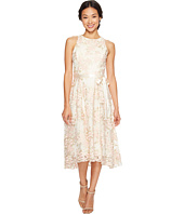 Tahari by ASL Petite - Petite Tea-Length Embroidered Dress