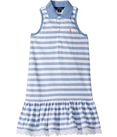 Polo Ralph Lauren Kids - Stretch Mesh Slim Polo Dress (Little Kids/Big Kids)