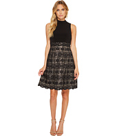 Vince Camuto - Ity Mock Neck Twofer w/ Bonded Lace Skirt