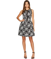 Vince Camuto - Jacquard Sleeveless Fit & Flare Dress