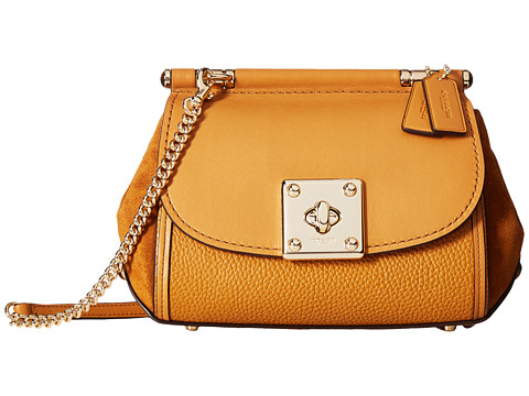 COACH Mixed Leather Drifter Crossbody at Zappos.com