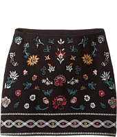 Ella Moss Girl - Kera Ponte Skirt with Embroidery (Big Kids)
