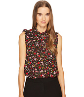 Kate Spade New York - Boho Floral Ruffle Yoke Top