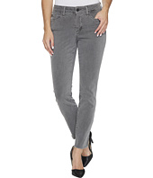 NYDJ - Ami Skinny Ankle Jeans w/ Fray Side Slit in Vintage Pewter