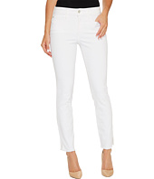 NYDJ - Ami Skinny Ankle Jeans w/ Fray Side Slit in Optic White
