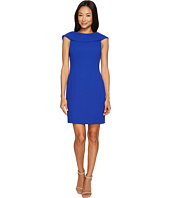 Tahari by ASL Petite - Petite Fold-Over Neck Sheath Dress