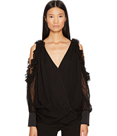 THOMAS WYLDE - Barron Cold Shoulder Chiffon Top