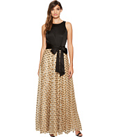 Tahari by ASL - Ballgown with Gold Florette Skirt