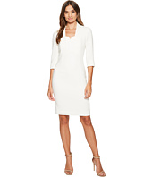 Tahari by ASL - V-Neck Sleeved Sheath Dress